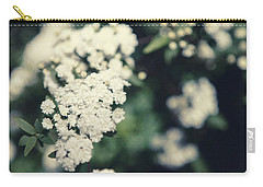 White Blossom Carry-all Pouch by Lisa Russo