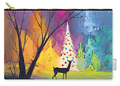 White Christmas Tree Carry-all Pouch by Munir Alawi