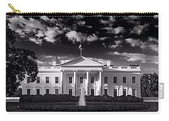 White House Sunrise B W Carry-all Pouch by Steve Gadomski