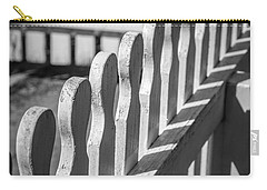 White Picket Fence Portsmouth Carry-all Pouch by Edward Fielding