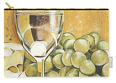 White Wine And Cheese Carry-all Pouch by Debbie DeWitt