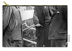 Carry-all Pouch featuring the photograph Wilbur Wright, 1908 by Science Source