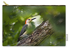 Red Bellied Woodpecker Carry-all Pouch by Christina Rollo