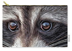 Wild Eyes - Raccoon Carry-all Pouch by Carol Cavalaris