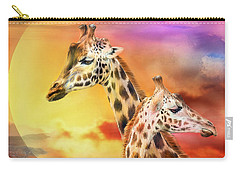 Wild Generations - Giraffes  Carry-all Pouch by Carol Cavalaris