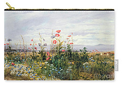 Wildflowers With A View Of Dublin Dunleary Carry-all Pouch by A Nicholl
