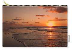 Wildwood Beach Sunrise II Carry-all Pouch by David Dehner