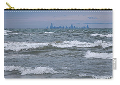 Windy City Skyline Carry-all Pouch by Ann Horn