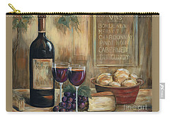 Wine For Two Carry-all Pouch by Marilyn Dunlap