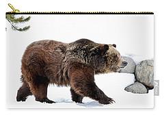 Winter Bear Walk Carry-all Pouch by Athena Mckinzie