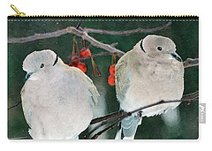 Winter Doves Carry-all Pouch by Betty LaRue