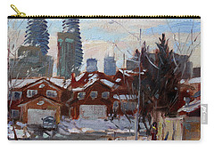 Winter In Mississauga  Carry-all Pouch by Ylli Haruni