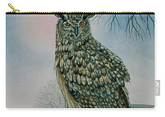 Winter Owl Carry-all Pouch by Ditz