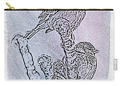 Winter Sparrows 1 Carry-all Pouch by Betty LaRue