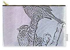 Winter Sparrows 2 Carry-all Pouch by Betty LaRue