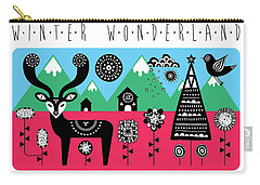 Winter Wonderland Carry-all Pouch by Susan Claire