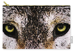 Wolf Eyes By Sharon Cummings Carry-all Pouch by Sharon Cummings