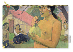 Woman With Mango Carry-all Pouch by Paul Gauguin