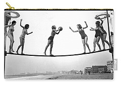 Women Play Beach Basketball Carry-all Pouch by Underwood Archives