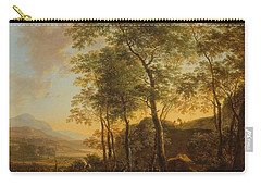 Wooded Hillside With A Vista Carry-all Pouch by Jan Both