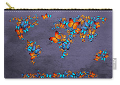 World Map  Carry-all Pouch by Mark Ashkenazi