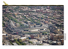 Wrigley Field - Home Of The Chicago Cubs Carry-all Pouch by Adam Romanowicz