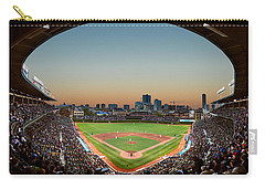 Wrigley Field Night Game Chicago Carry-all Pouch by Steve Gadomski