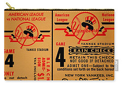 Yankees 4th Straight - Vintage Carry-all Pouch by Benjamin Yeager