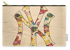 Yankees Vintage Art Carry-all Pouch by Florian Rodarte