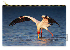 Yellow-billed Stork Hunting For Food Carry-all Pouch by Johan Swanepoel
