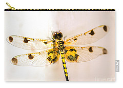 Yellow Dragonfly Pantala Flavescens Carry-all Pouch by Iris Richardson