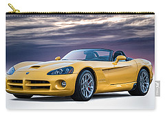 Yellow Viper Convertible Carry-all Pouch by Douglas Pittman