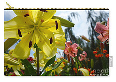 Yellow Whopper Lily 1 Carry-all Pouch by Jacqueline Athmann