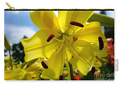 Yellow Whopper Lily 2 Carry-all Pouch by Jacqueline Athmann