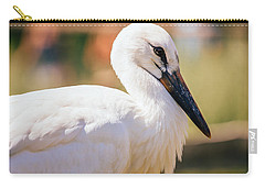 Young Stork Portrait Carry-all Pouch by Pati Photography