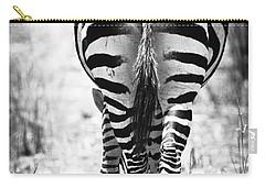 Zebra Butt Carry-all Pouch by Adam Romanowicz