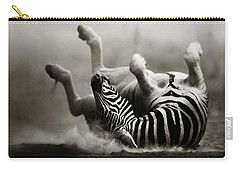 Zebra Rolling Carry-all Pouch by Johan Swanepoel