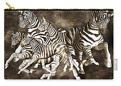 Zebras Carry-all Pouch by Betsy Knapp