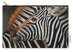 Zebras Carry-all Pouch by David Stribbling