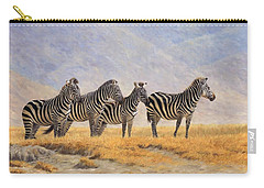 Zebras Ngorongoro Crater Carry-all Pouch by David Stribbling