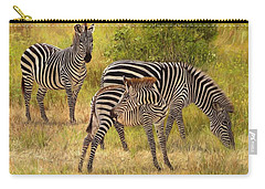 Zebras South Luangwa Carry-all Pouch by David Stribbling