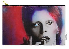 David Bowie - ' Ziggy Stardust ' Carry-all Pouch by Christian Chapman