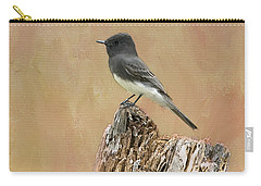 Black Phoebe Carry-all Pouch by Betty LaRue