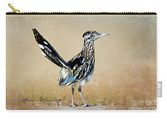 Greater Roadrunner Carry-all Pouch by Betty LaRue