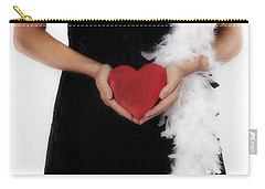 Lady With Heart Carry-all Pouch by Joana Kruse