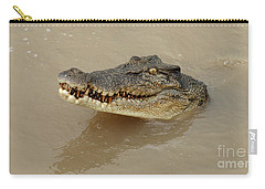 Salt Water Crocodile 3 Carry-all Pouch by Bob Christopher