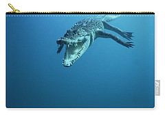 Saltwater Crocodile Crocodylus Porosus Carry-all Pouch by Mike Parry