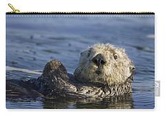Sea Otter Monterey Bay California Carry-all Pouch by Suzi Eszterhas