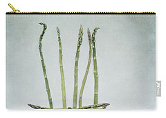 A Bunch Of Asparagus Carry-all Pouch by Priska Wettstein