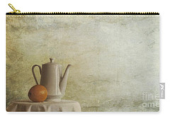 A Jugful Tea And A Orange Carry-all Pouch by Priska Wettstein